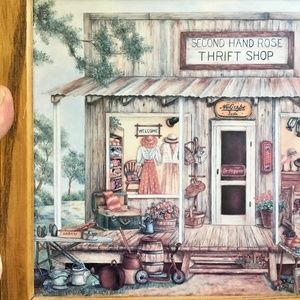 Vintage Thrift Shop Painting Wall Decor/Sign, 11x9
